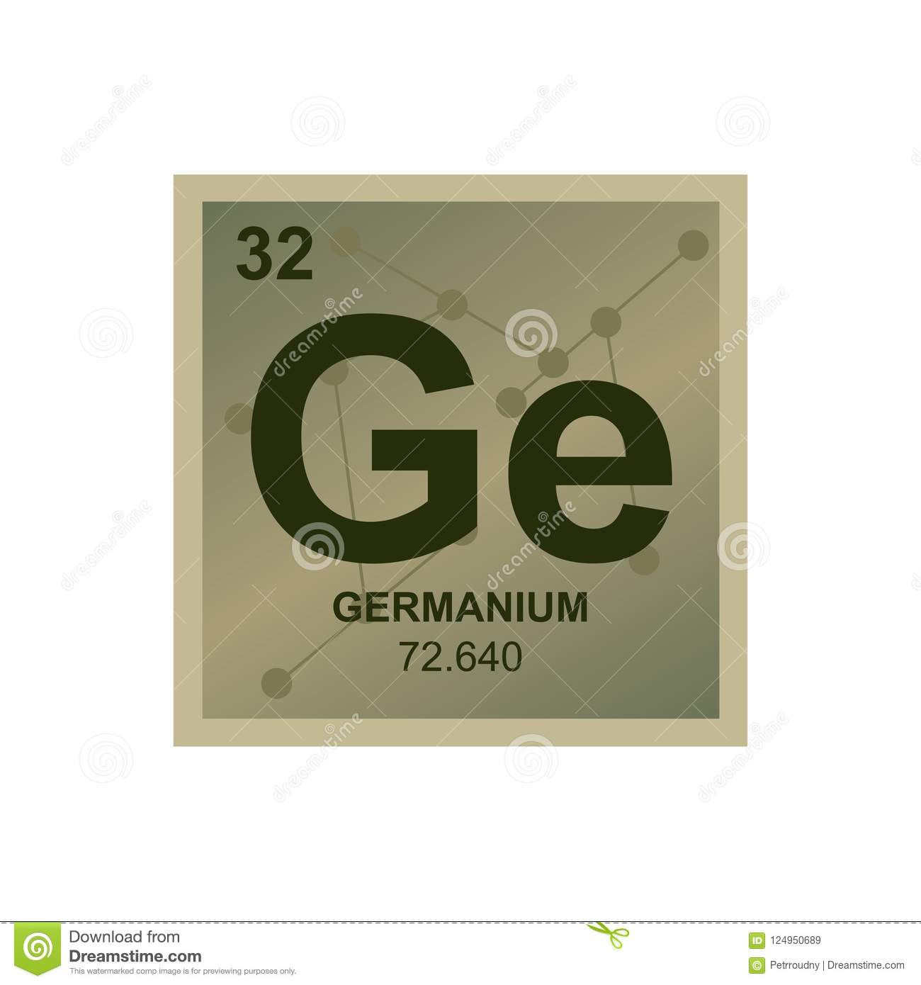 Vector Symbol Of Germanium On The Background From Connected