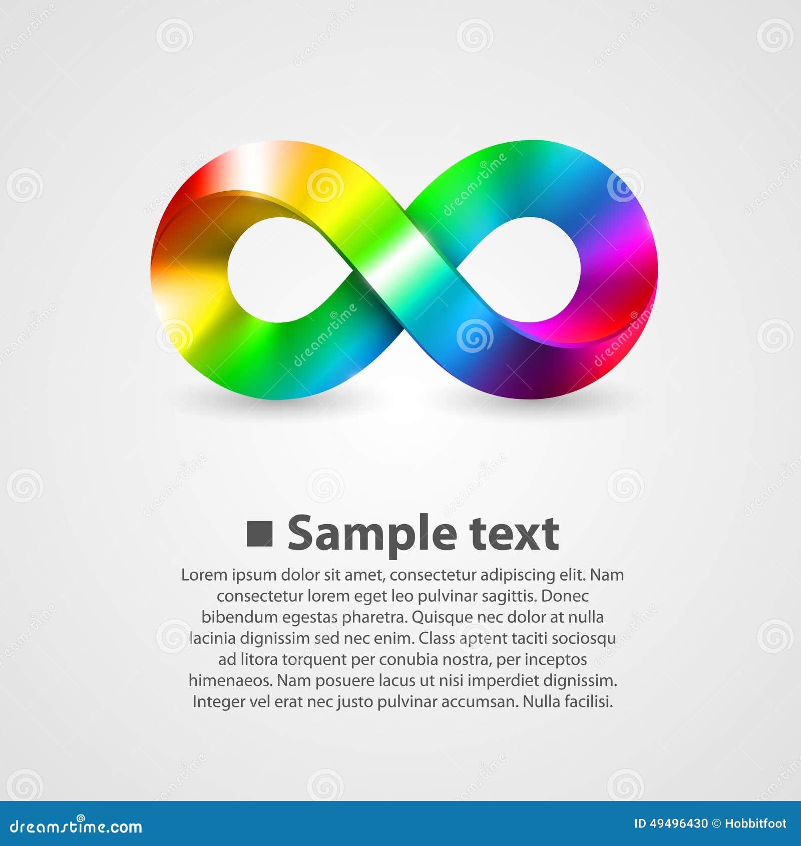 vector symbol of infinity rainbow stock vector image