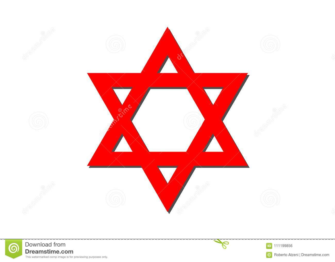 Vector symbol of judaism religion red star of david stock vector vector symbol of judaism religion red star of david biocorpaavc Choice Image
