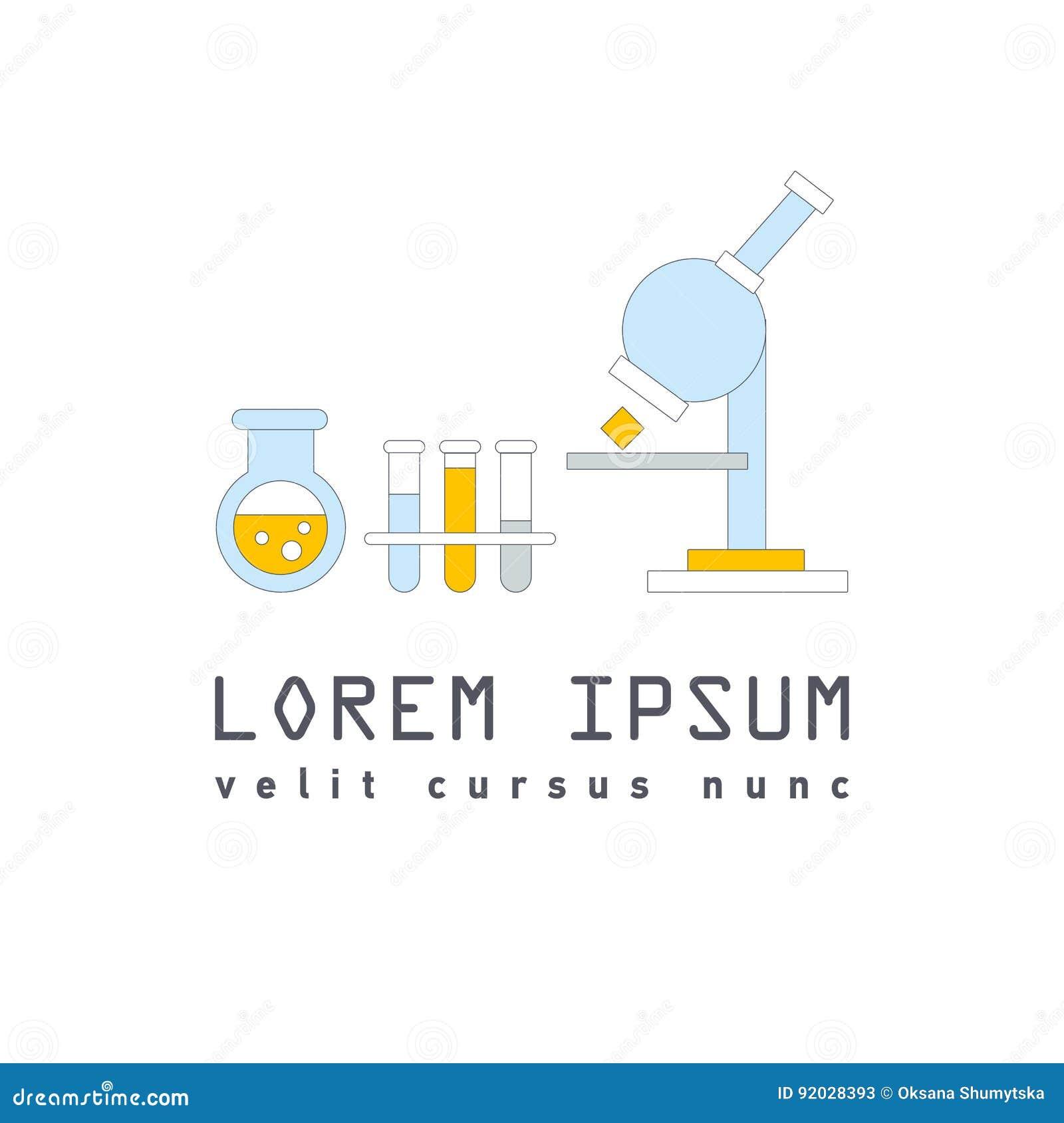 Vector Symbol Of Laboratory Stock Vector Illustration Of Pharmacy