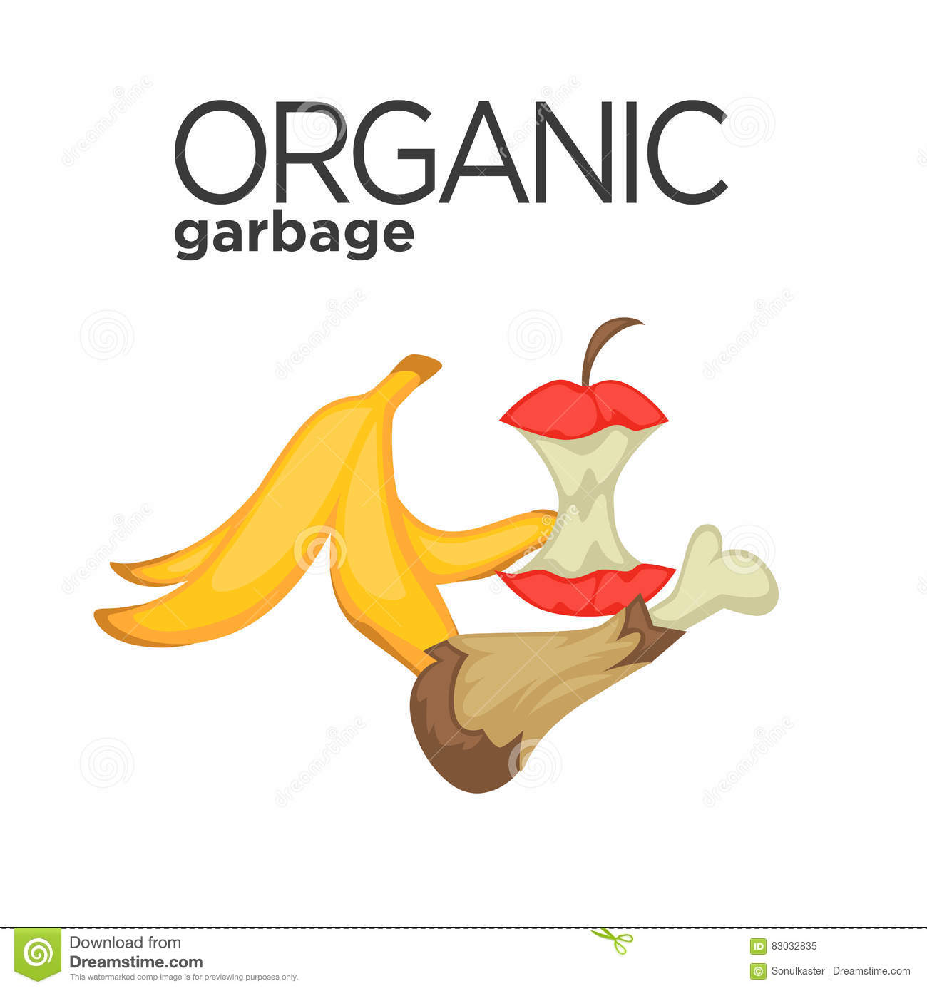 Vector Symbol Of Organic Garbage Stock Vector