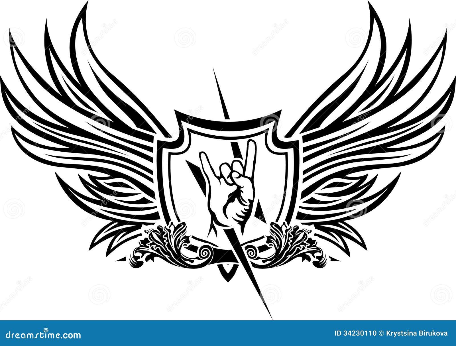 Vector symbol of rock n roll stock vector illustration of rock vector symbol of rock n roll buycottarizona