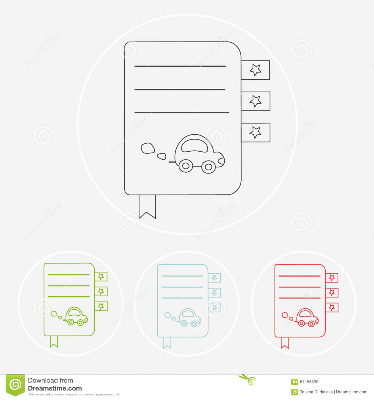 Vector Symbols Of Reading And Learning Stock Vector Illustration