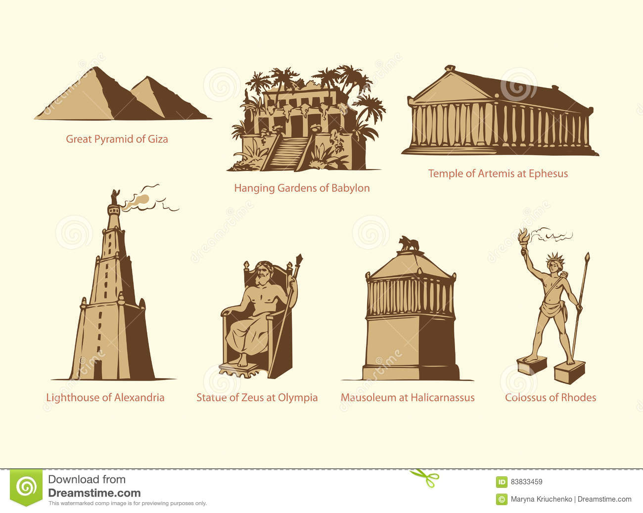 Seven wonders of the world images download