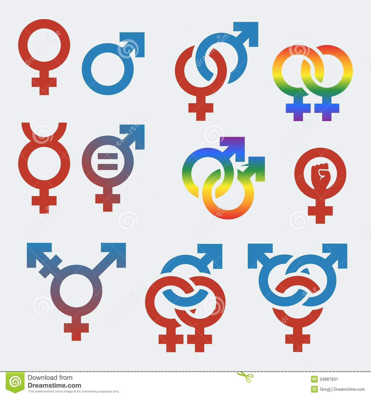 Vector Symbols Of Sexual Orientation And Gender Stock