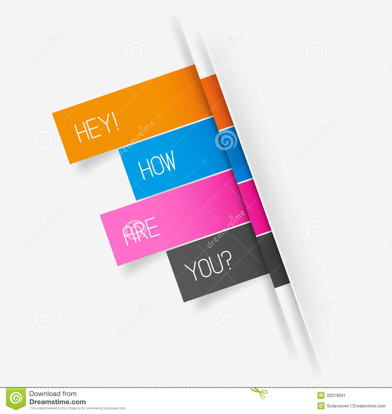 Vector Tab Banner Elements