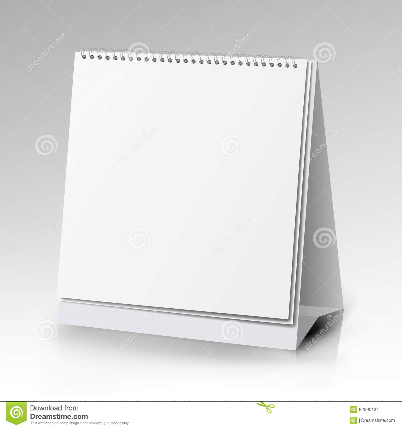 Blank Vector Calendar Template : Vector table blank stand holder for menu paper calendar