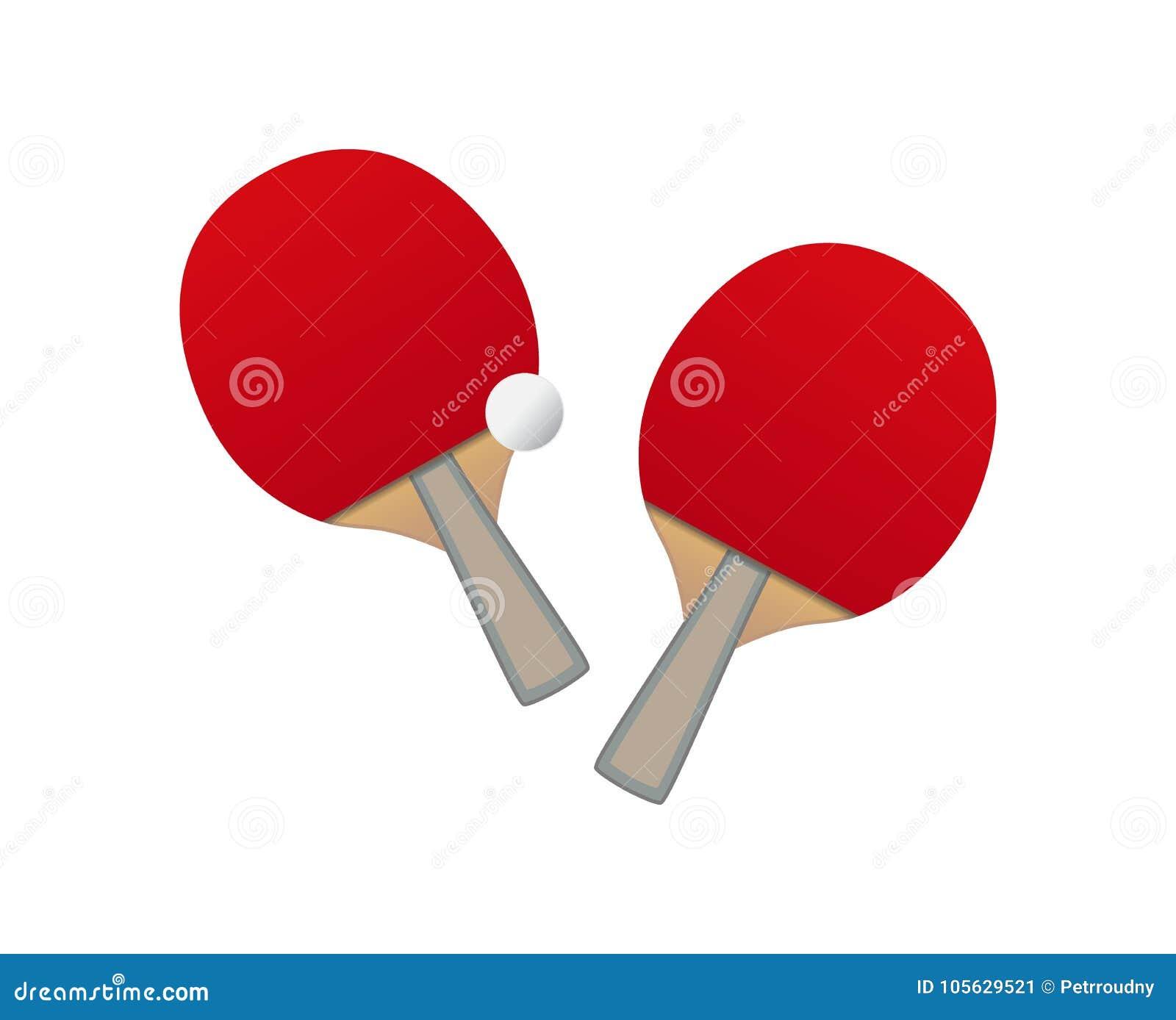 Vector Table tennis bats and ball