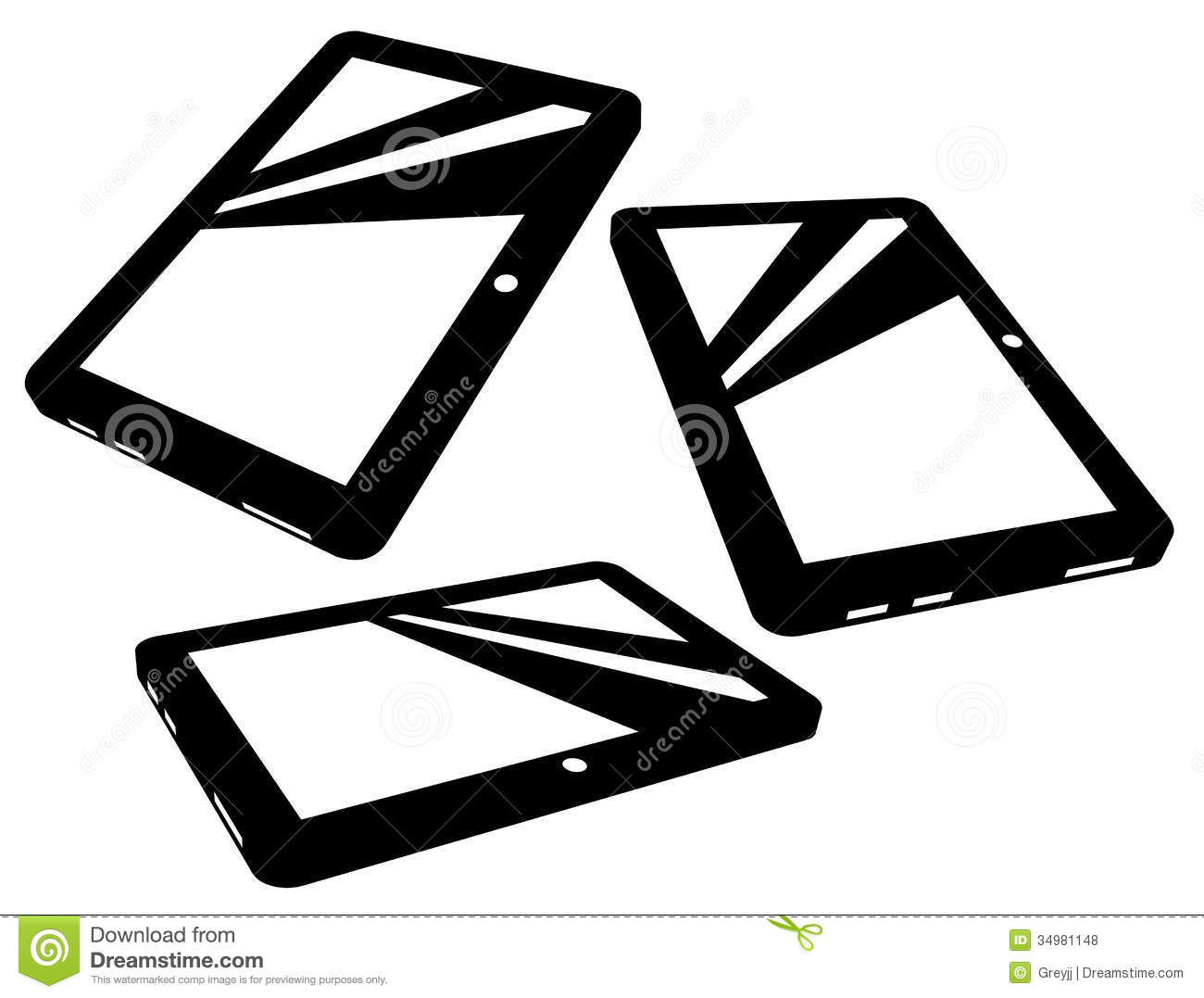 Vector Tablet Silhouettes Royalty Free Stock Photos ...