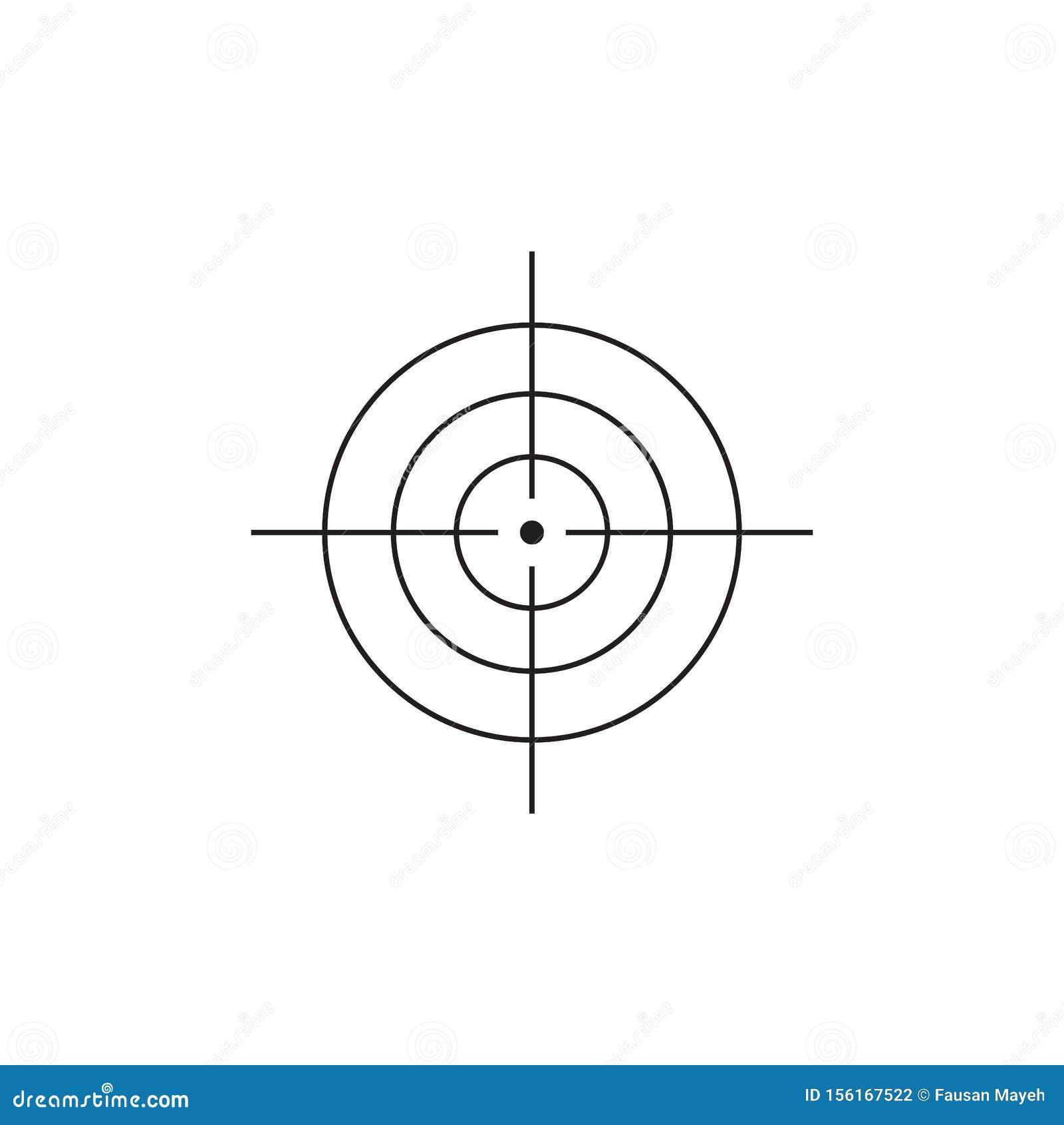 Vector target icon design illustration. eps 10