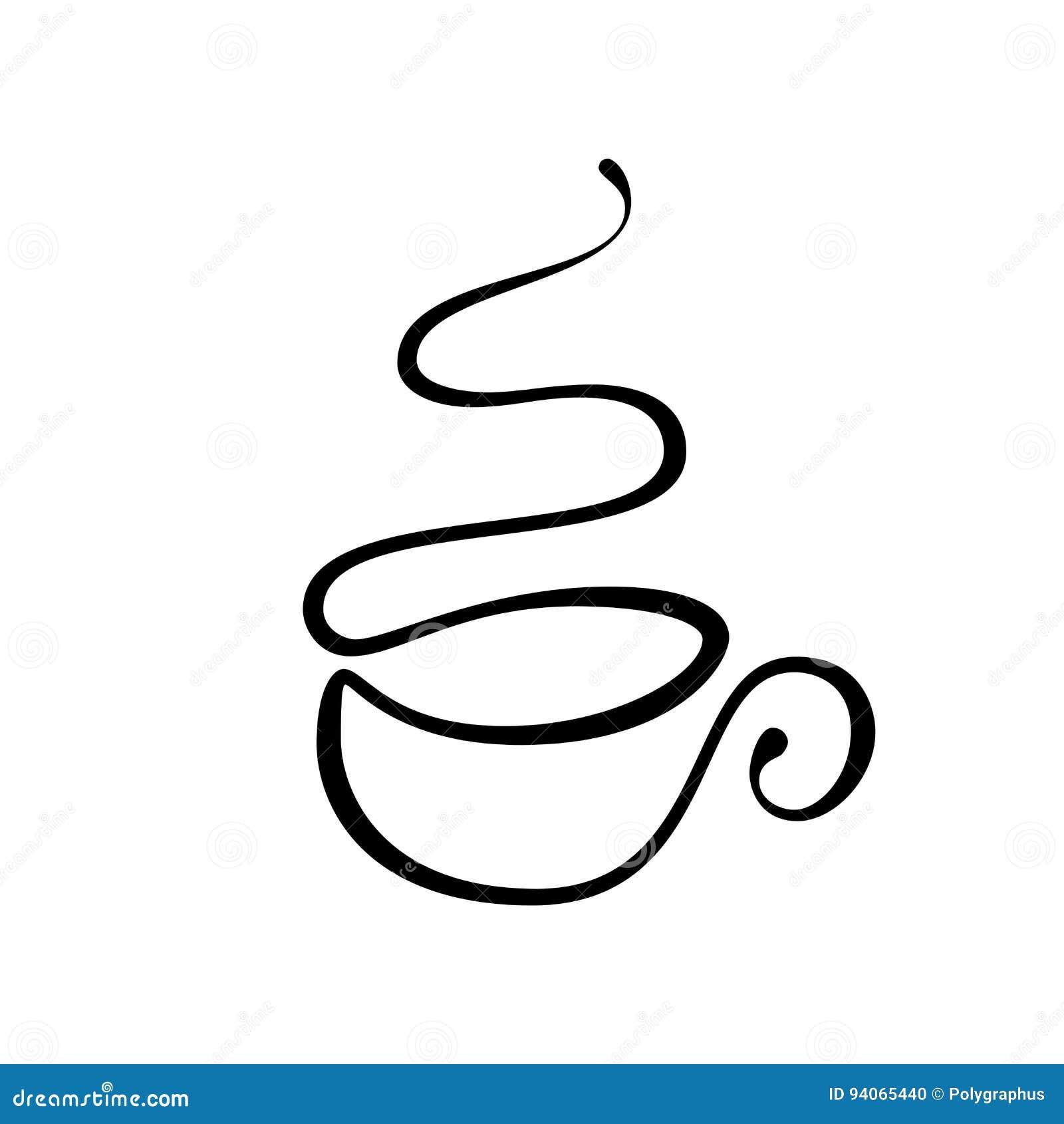 Vector Tasse Tee Oder Kaffee Gezeichnet Durch Einzelne