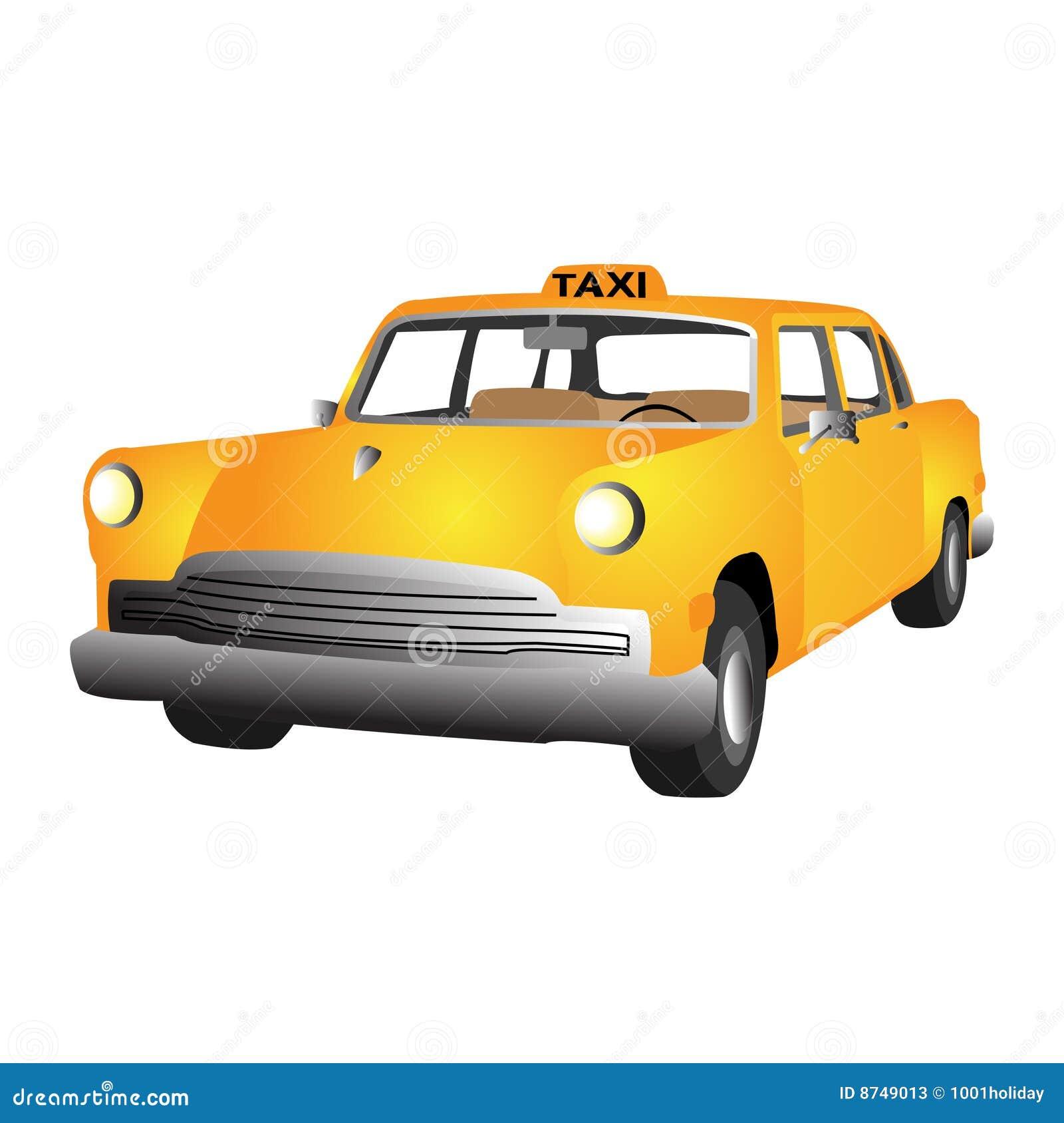 Car Stock Photos: Vector Taxi Car Stock Photos