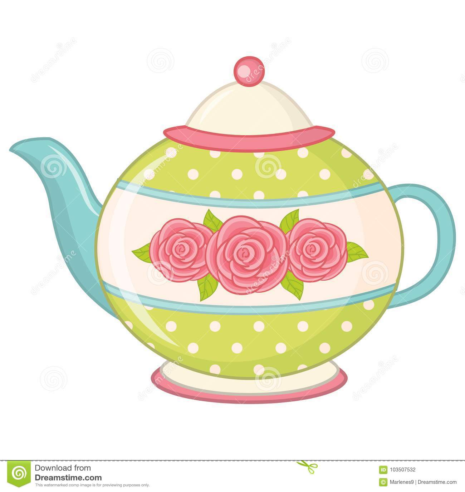 Vector Tea Pot. Teapot Vector Illustration Stock Vector ...