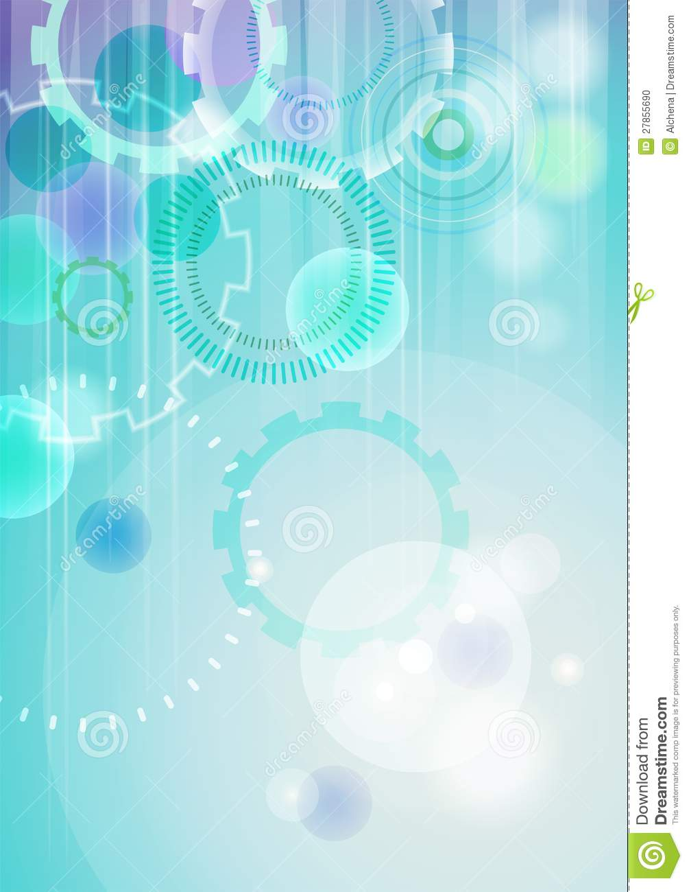 Vector Technical Abstract Background Stock Photo