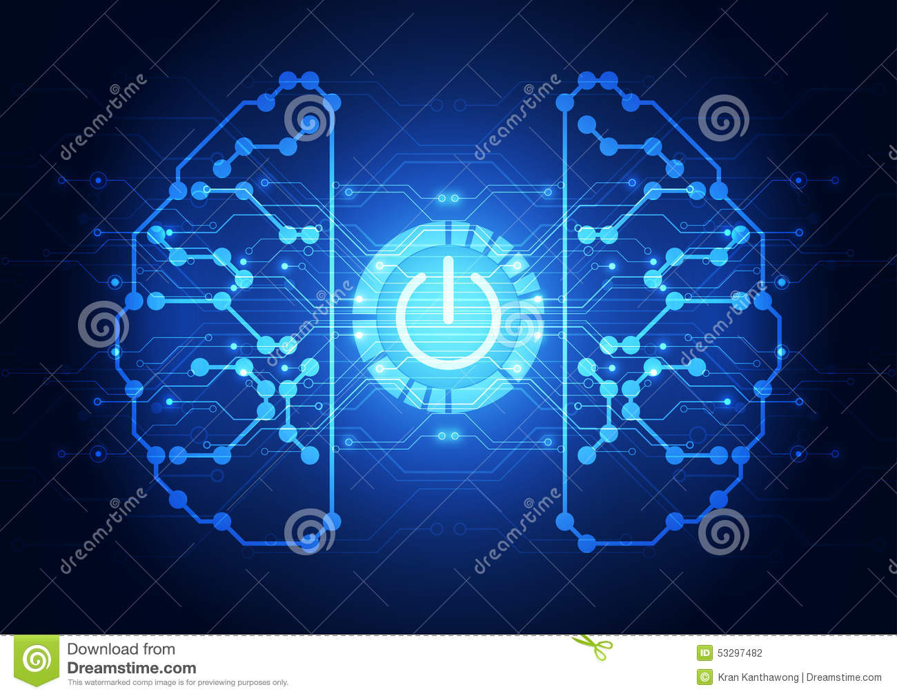 vector technology power button abstract background