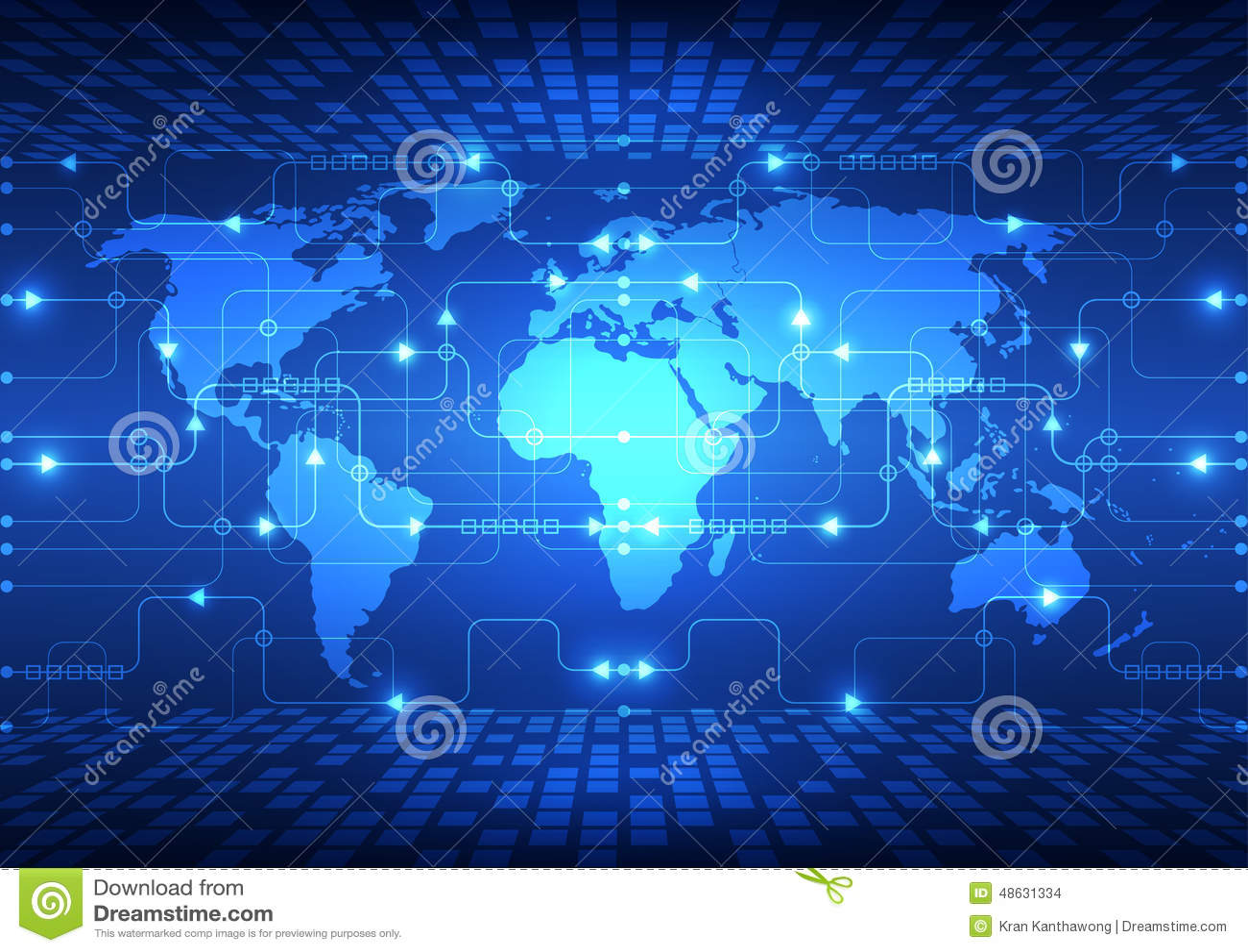 Vector a tecnologia futura global abstrata, fundo bonde das telecomunicações