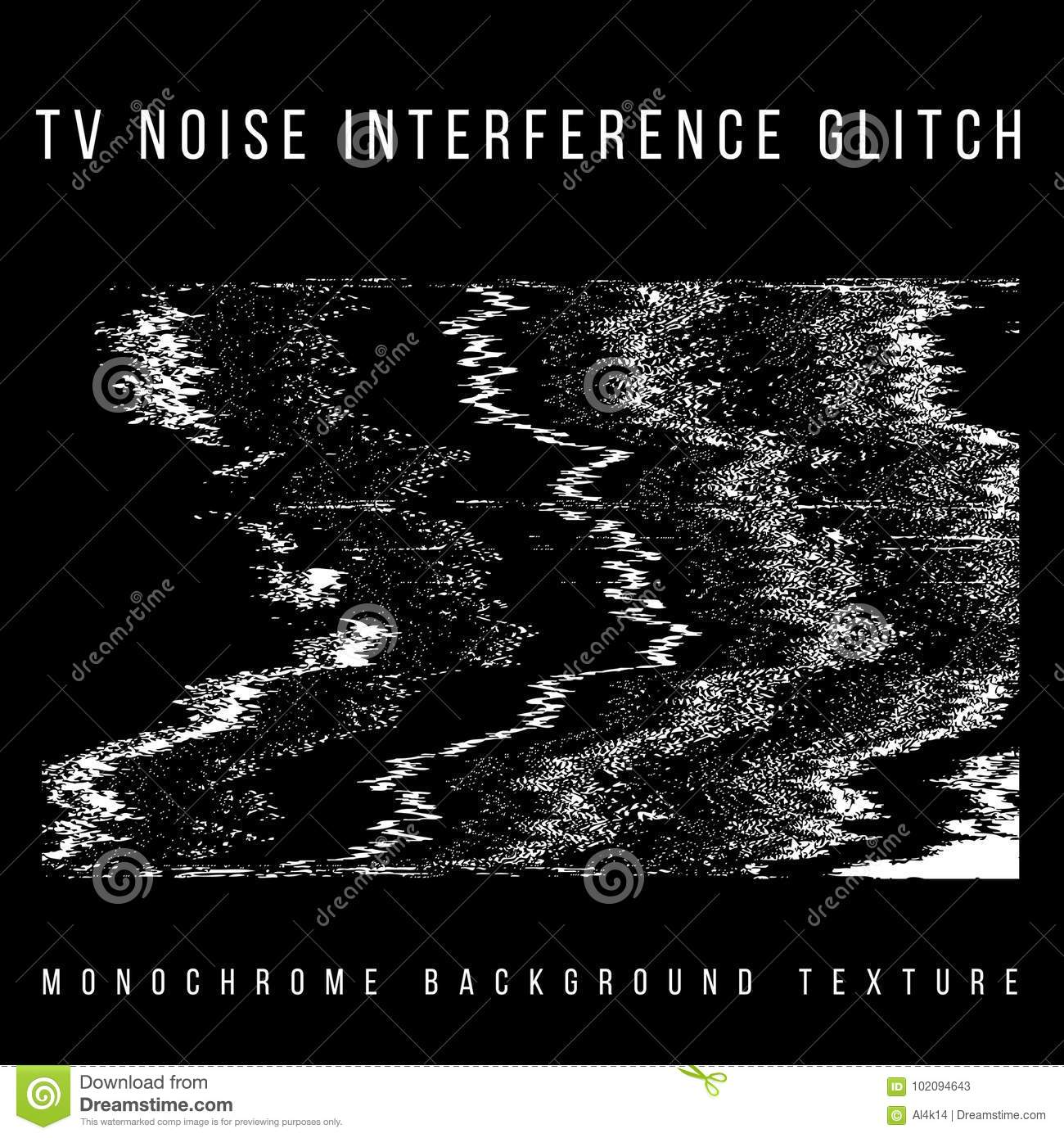 Vector Television Interference Glitch Stock Vector - Illustration of
