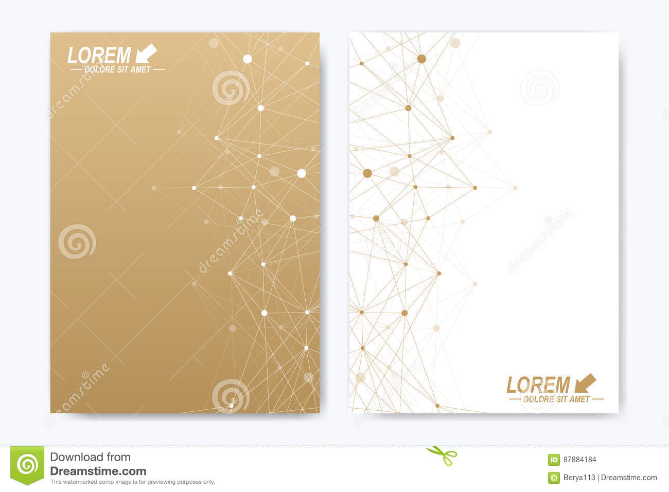 Vector template for brochure, Leaflet, flyer, advert, cover, catalog, magazine or annual report. Geometric background