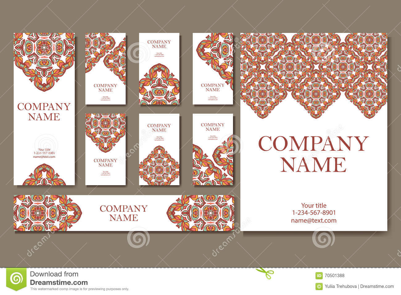 vector template business card geometric background card or invitation collection islam arabic