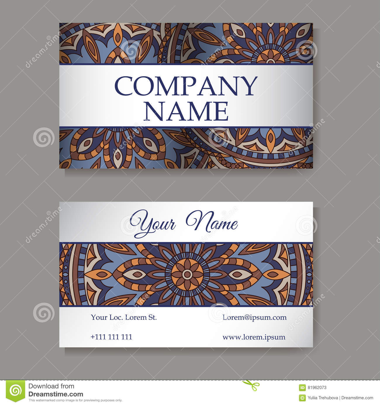 Vector Template Business Card Geometric Background Card Or