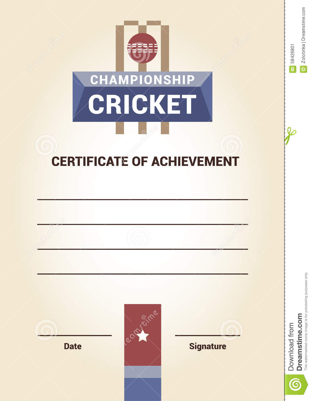Cricket certificate templates 28 images 22 well designed cricket certificate templates vector template certificate diploma cricket stock vector alramifo Choice Image