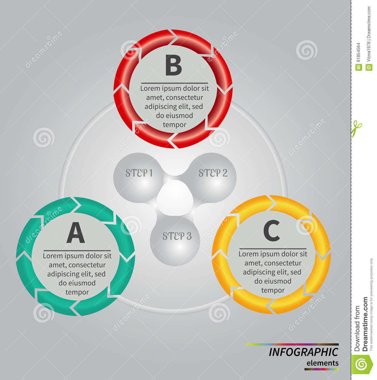 Vector Template For Cycle Diagram  Graph  Presentation And