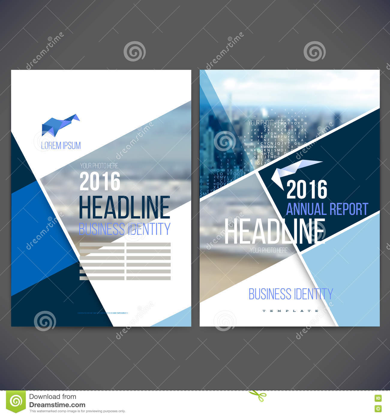 Vector Template Design Annual Report 2017 With Background