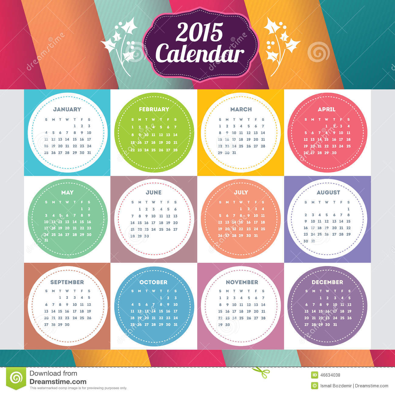 Illustration Calendar Design : Vector template design calendar with paper page for