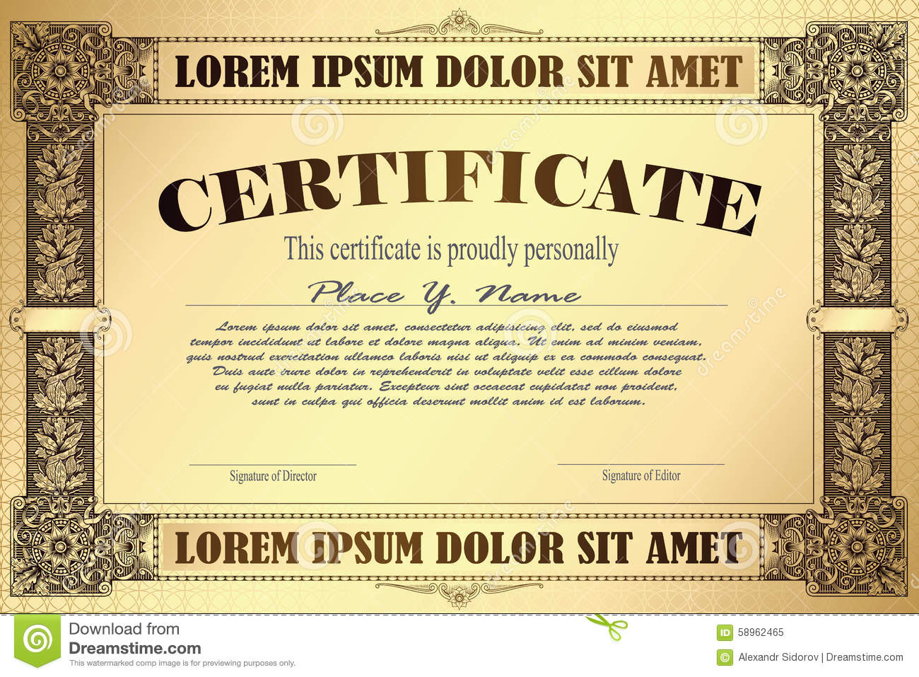 Vector template for the design of certificate advertisements download comp stopboris Image collections