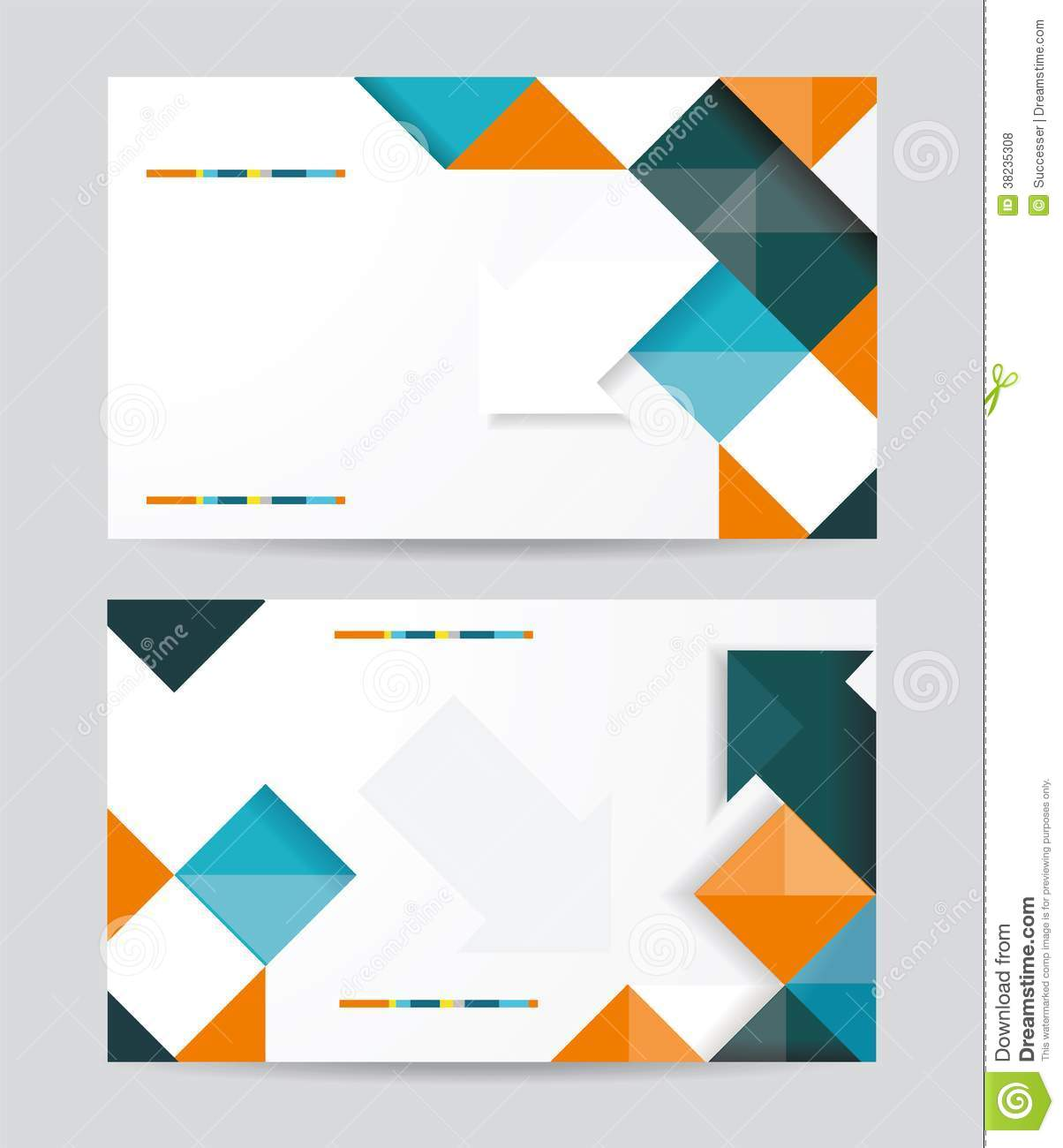 Vector Template Design With Cubes And Arrows Eleme Royalty Free Stock ...