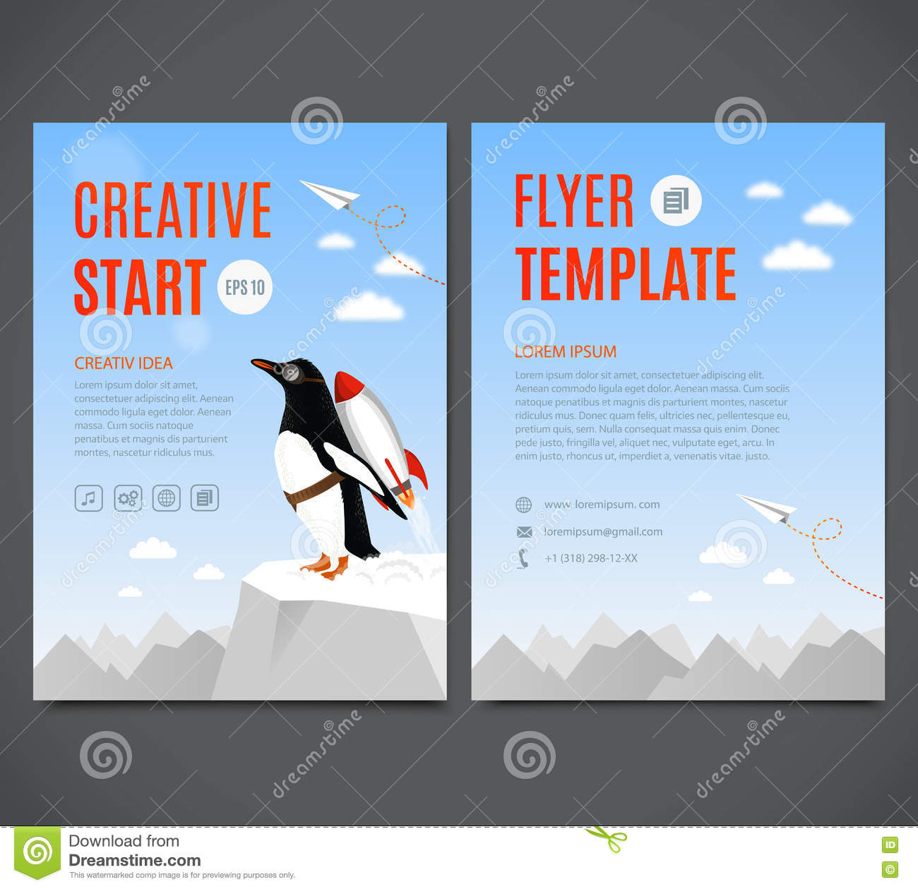 vector template design flyer brochure cover page creative vector template design flyer brochure cover page creative start and creative