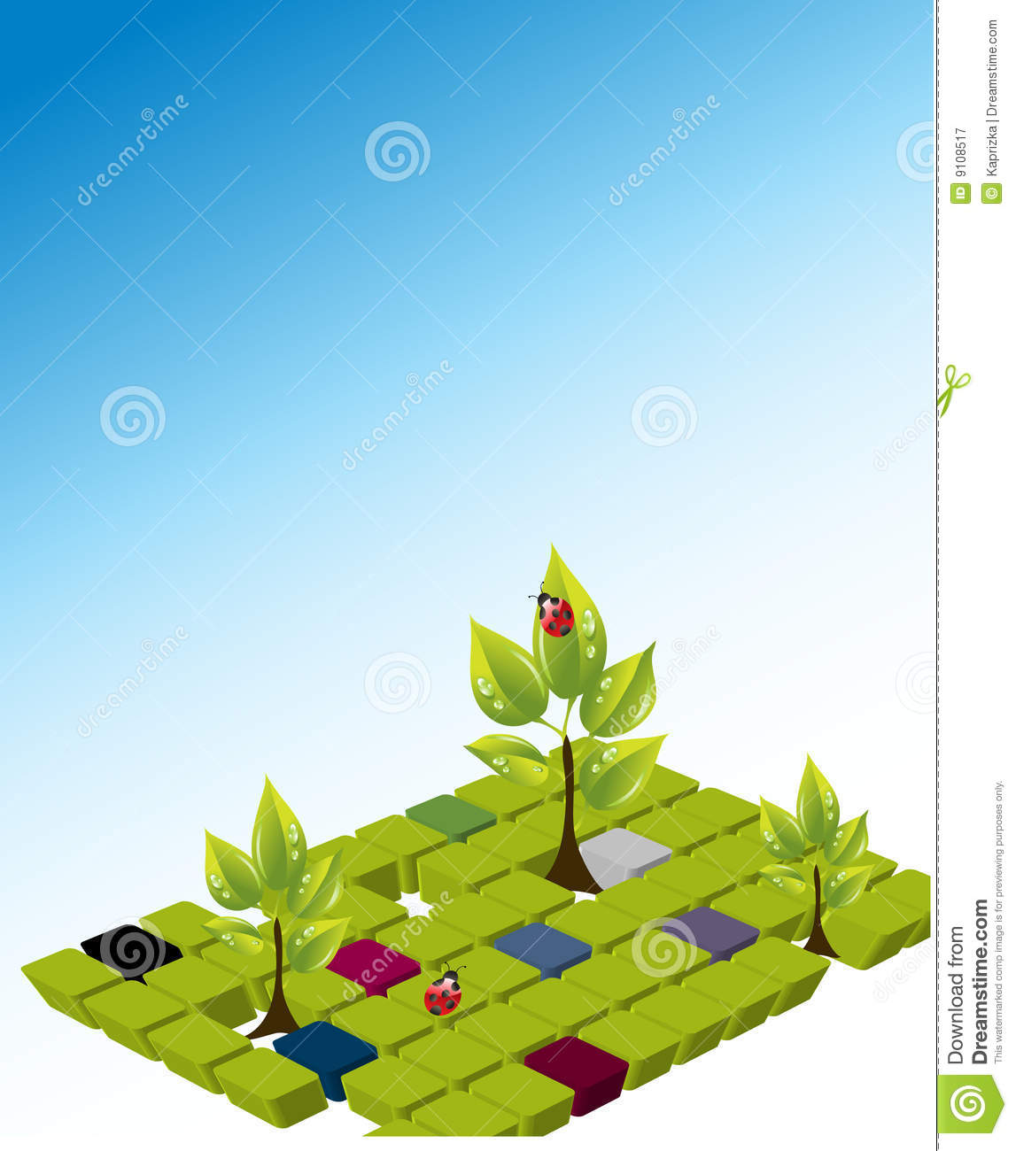 Vector template of a environmental protection royalty free for Environmental protection plan template