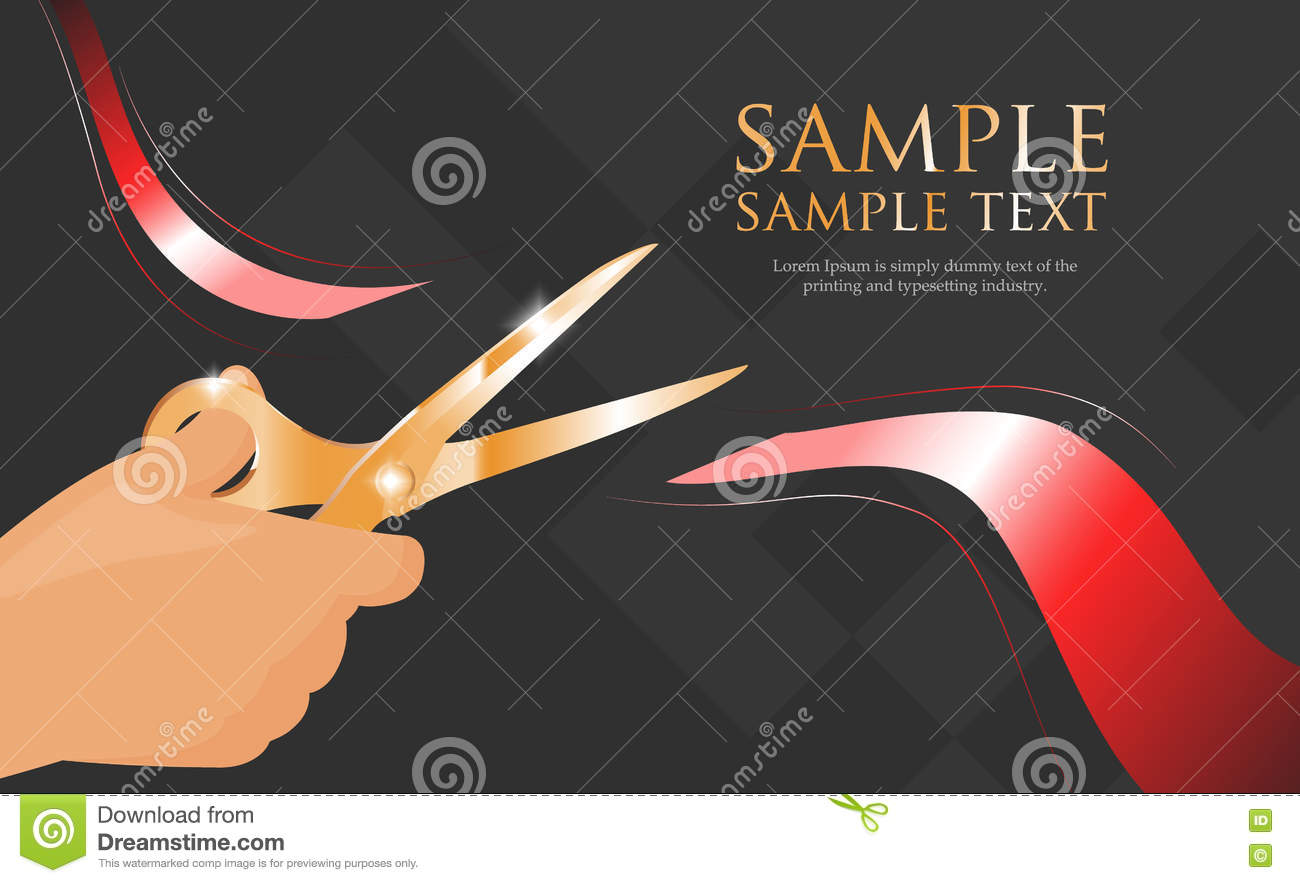 Vector Template Of Grand Opening Invitation Stock
