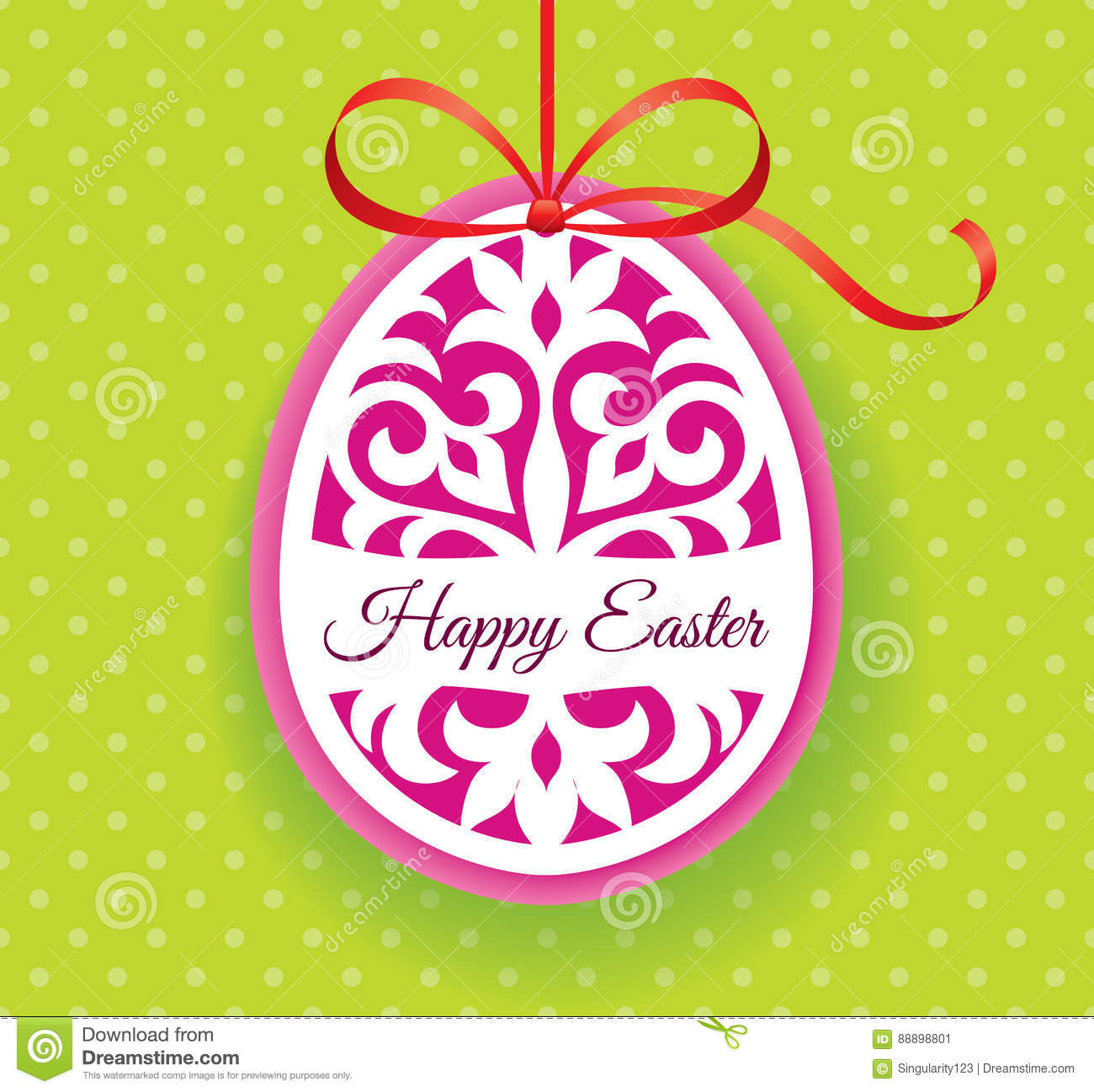 Vector Template For Laser Cut Easter Egg Greeting Card Tag