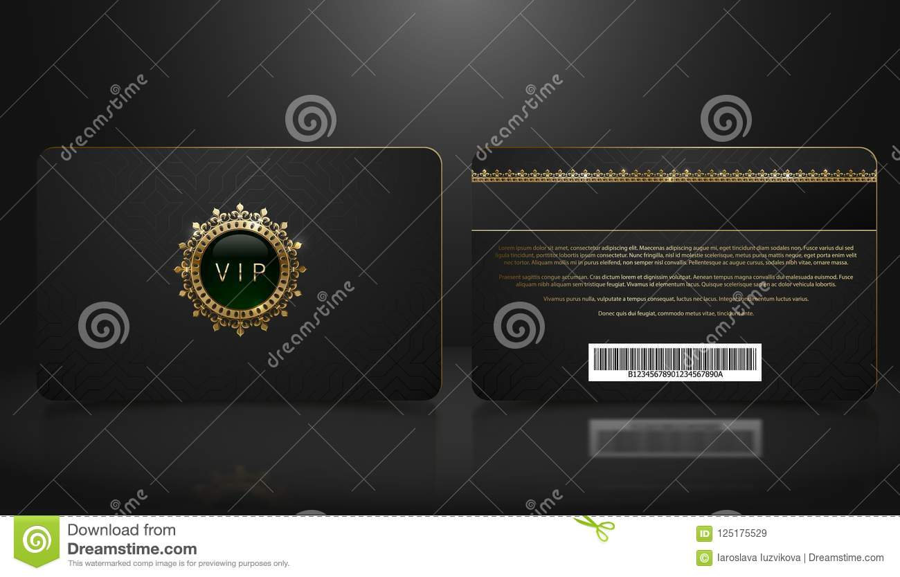 Vector template of membership or loyalty black vip card with luxury download vector template of membership or loyalty black vip card with luxury geometric pattern front maxwellsz