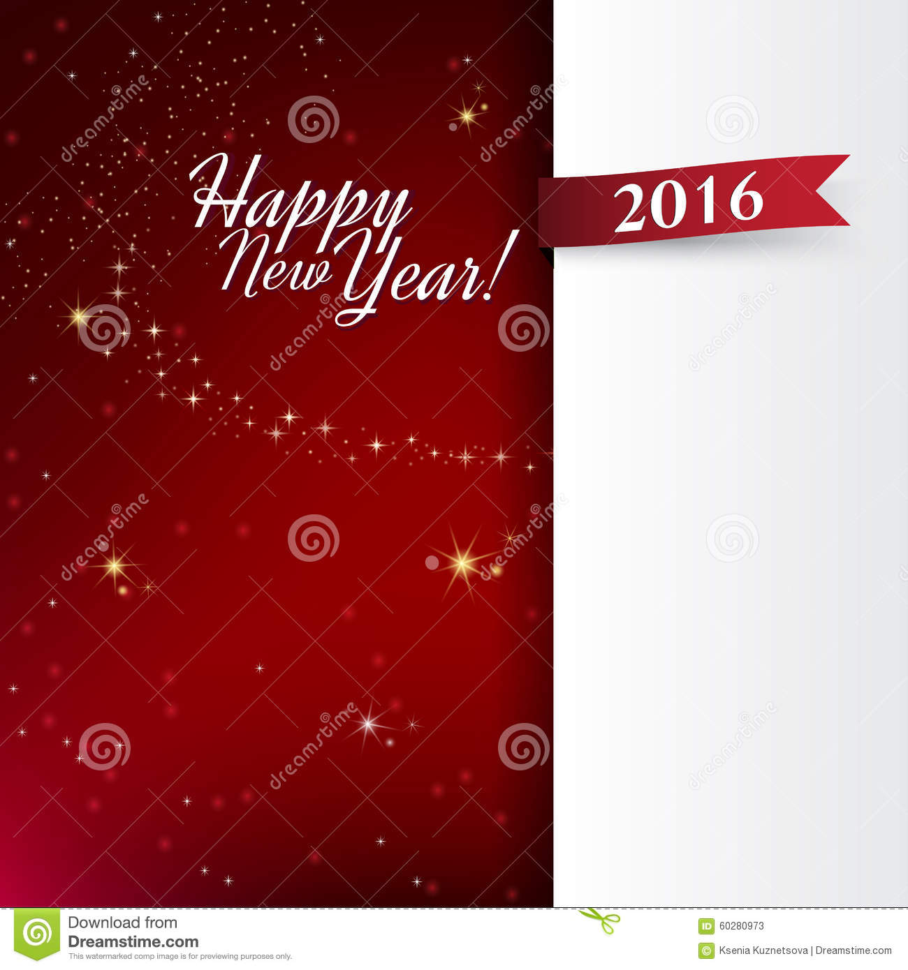 vector template new year s card or banner for a