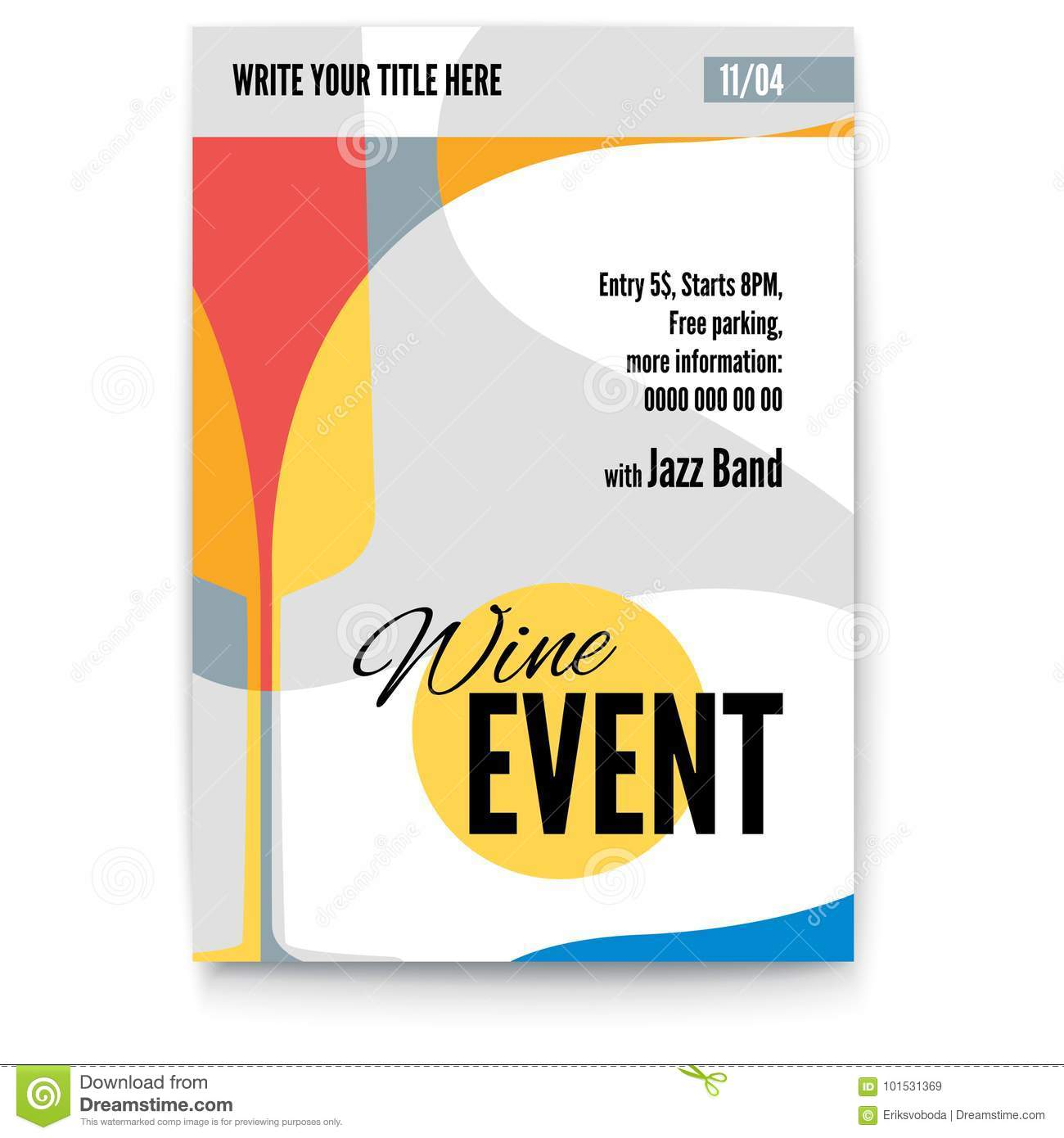 Vector Template Of Poster, Design Layout For Brochure, Banner, Flyer ...
