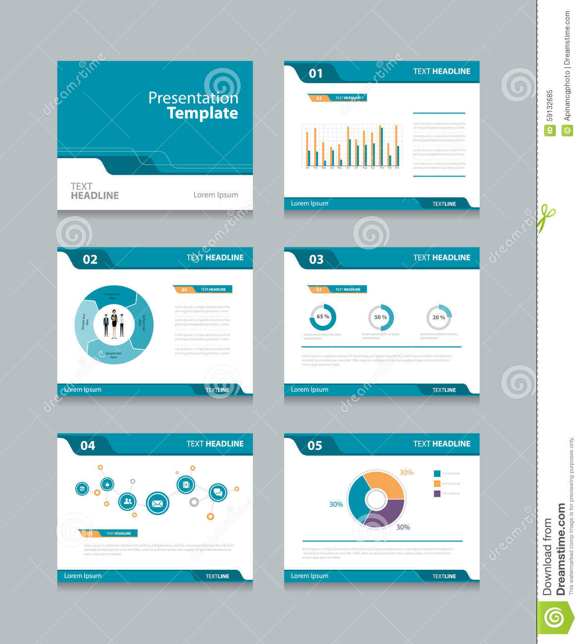 vector template presentation slides background design info graphs