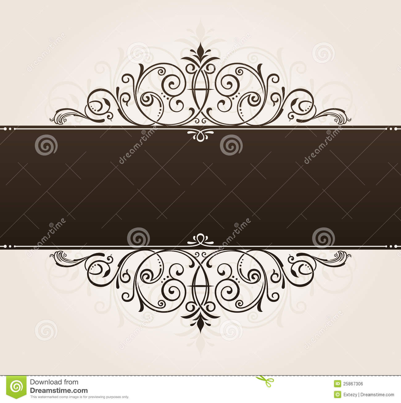 Vector Template For Text Background. Vintage Frame Royalty ...
