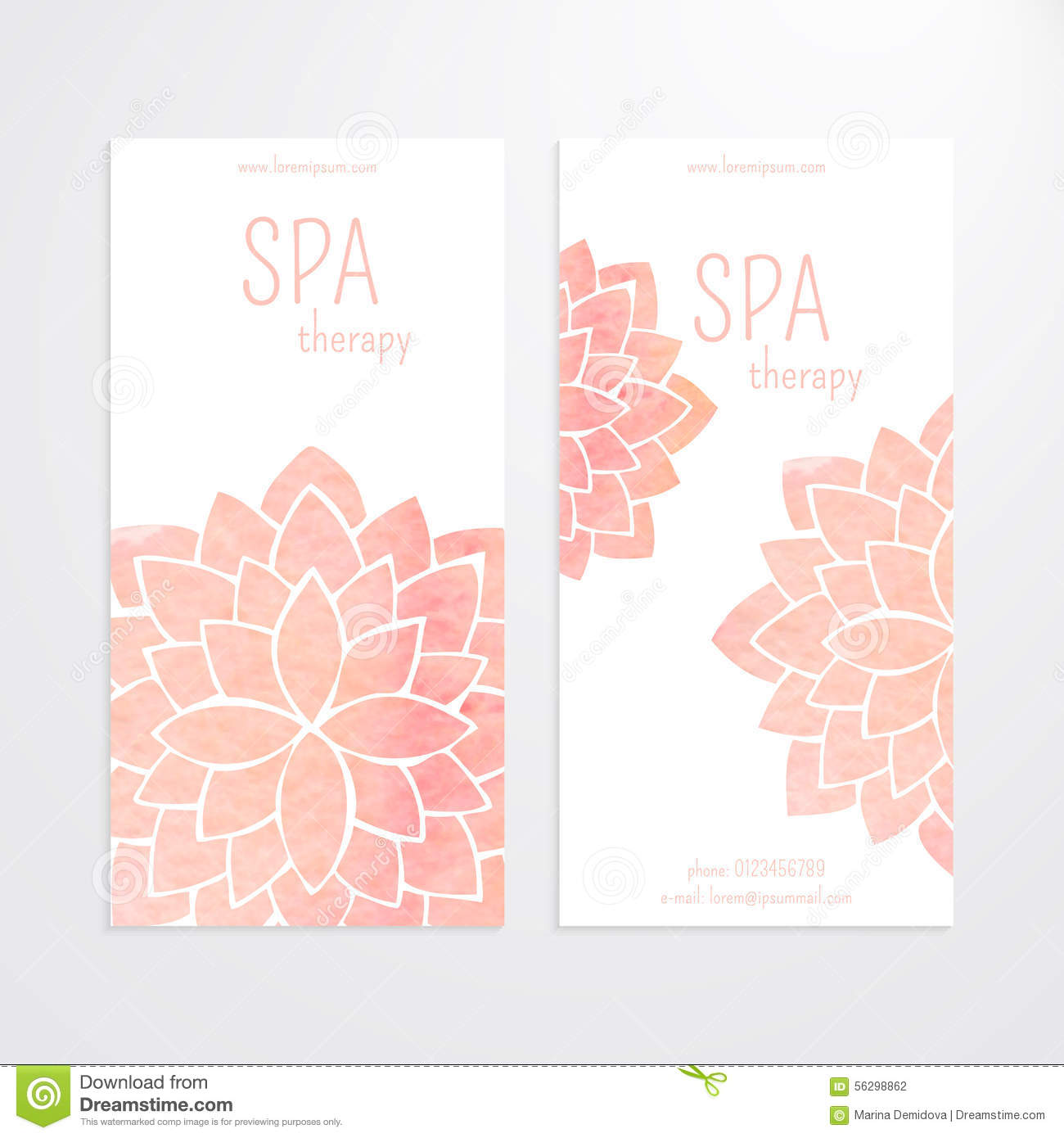 vector templates of banners with watercolor pink lotus flower mandala stock vector. Black Bedroom Furniture Sets. Home Design Ideas