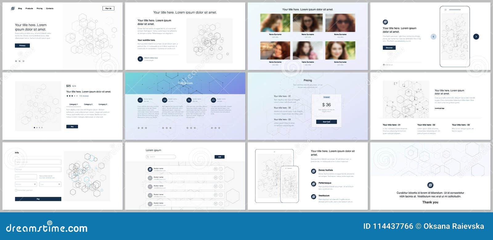 Vector Templates For Website Design, Minimal Presentations