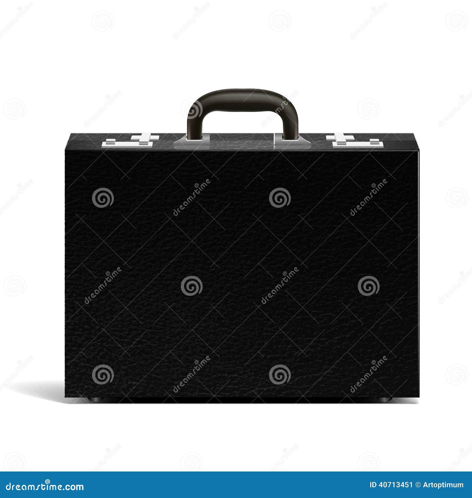 Vector textured black briefcase illustration