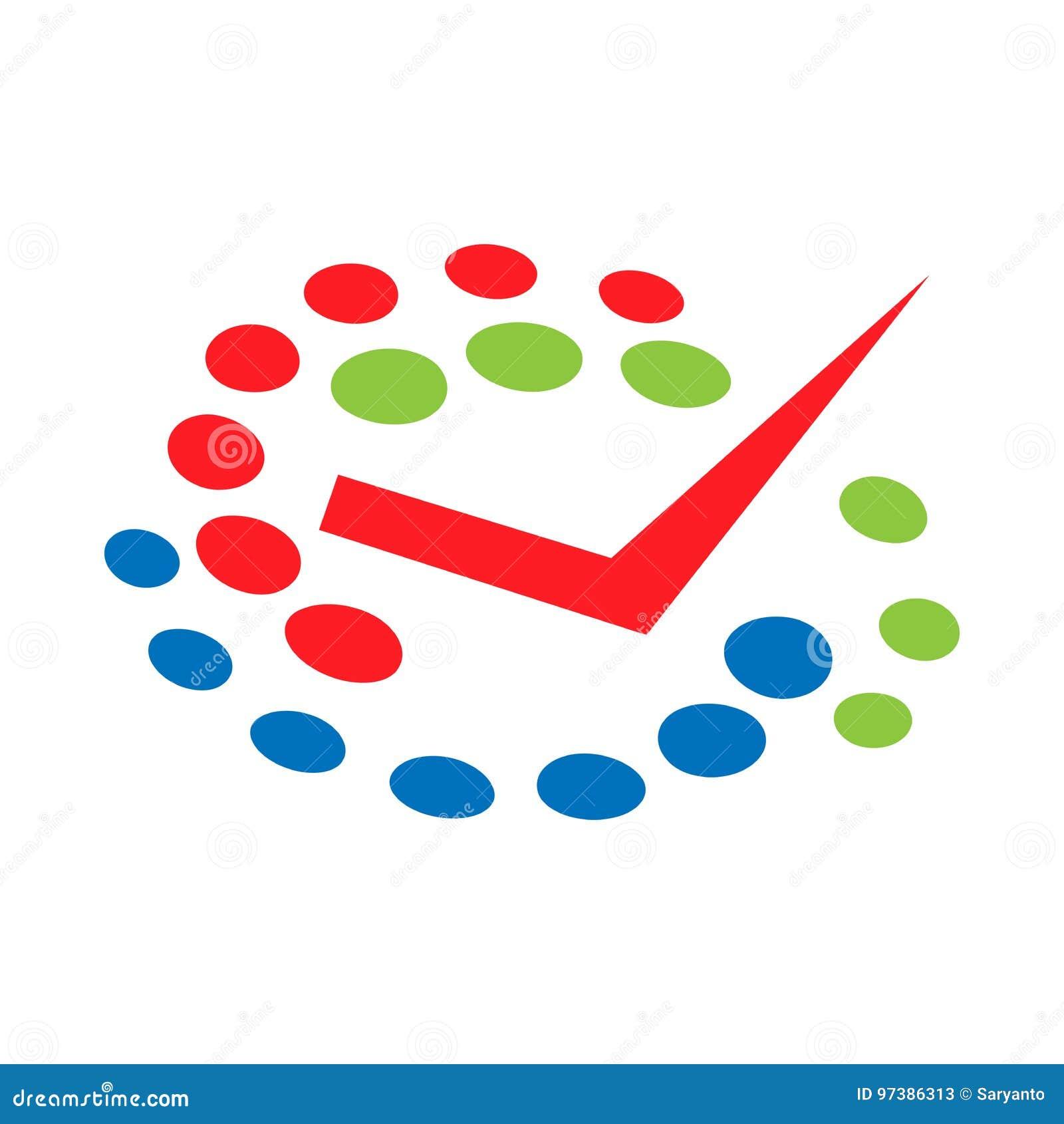 Vector tick. logo vector illustration