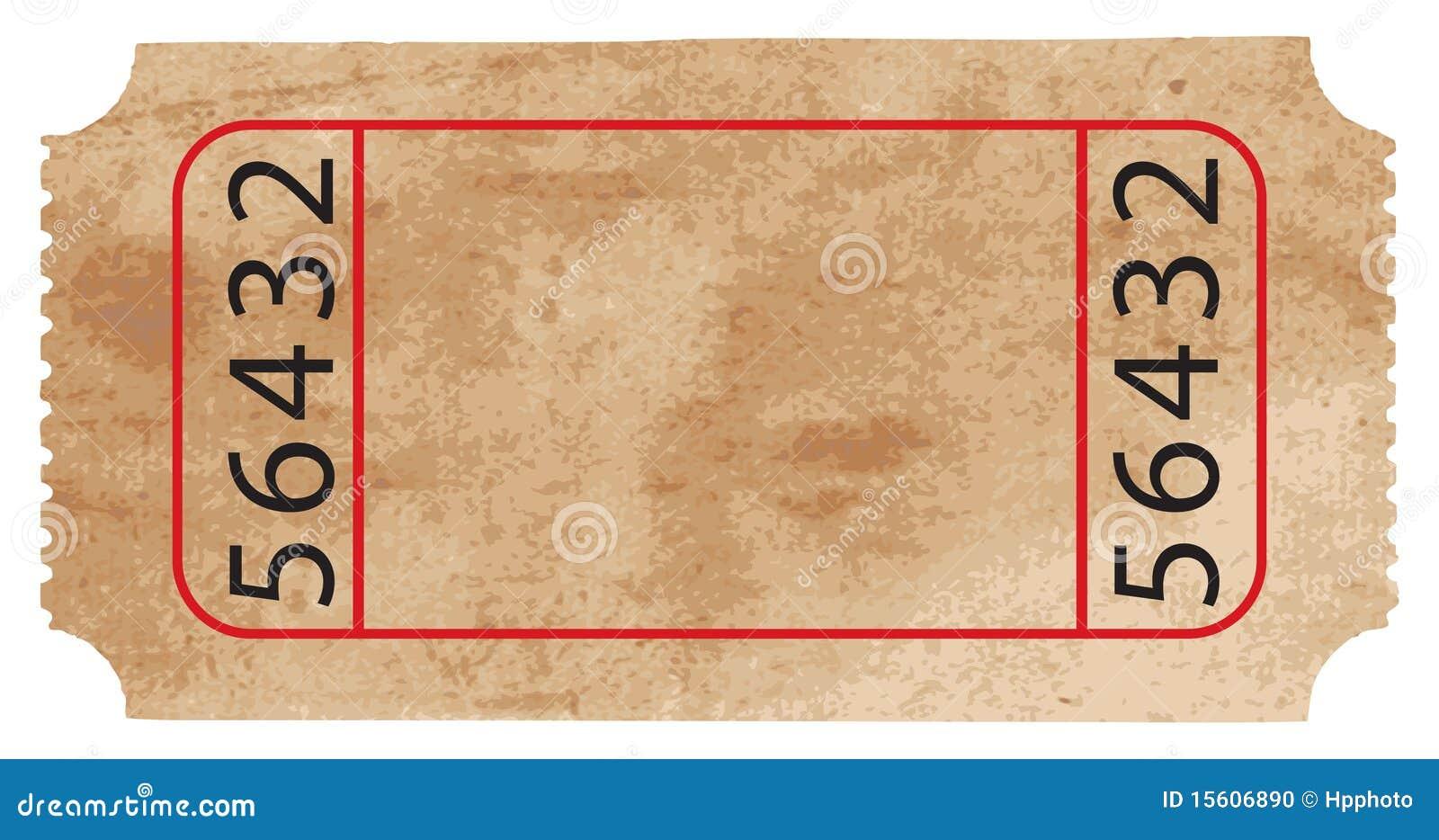 Vector Ticket stock illustration. Image of raphic, admit ...