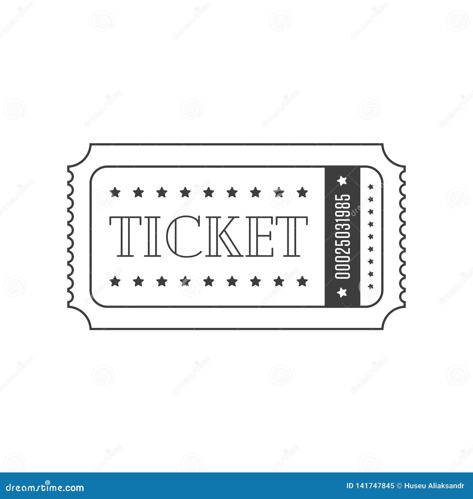 vector ticket template  stock vector  illustration of