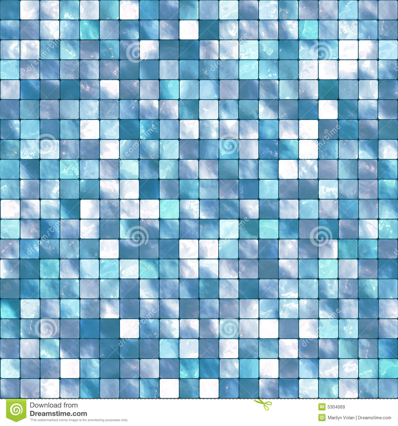 Vector Tile Mosaic Background Stock Image 5304069