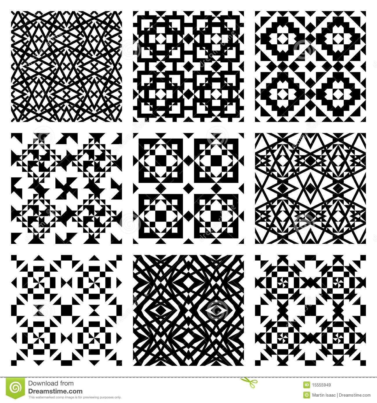 Vector Tile Pattern Royalty Free Stock Images - Image: 15555949