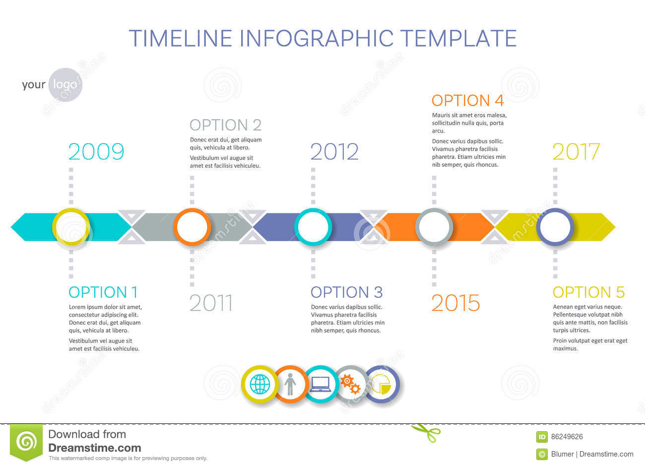 Vector Timeline Infographic Template Stock Vector - Image ...