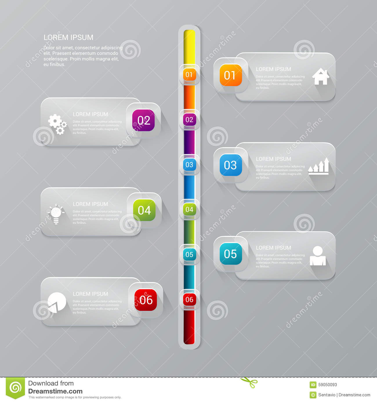 Vector Timeline Process Report Company Infographics Template