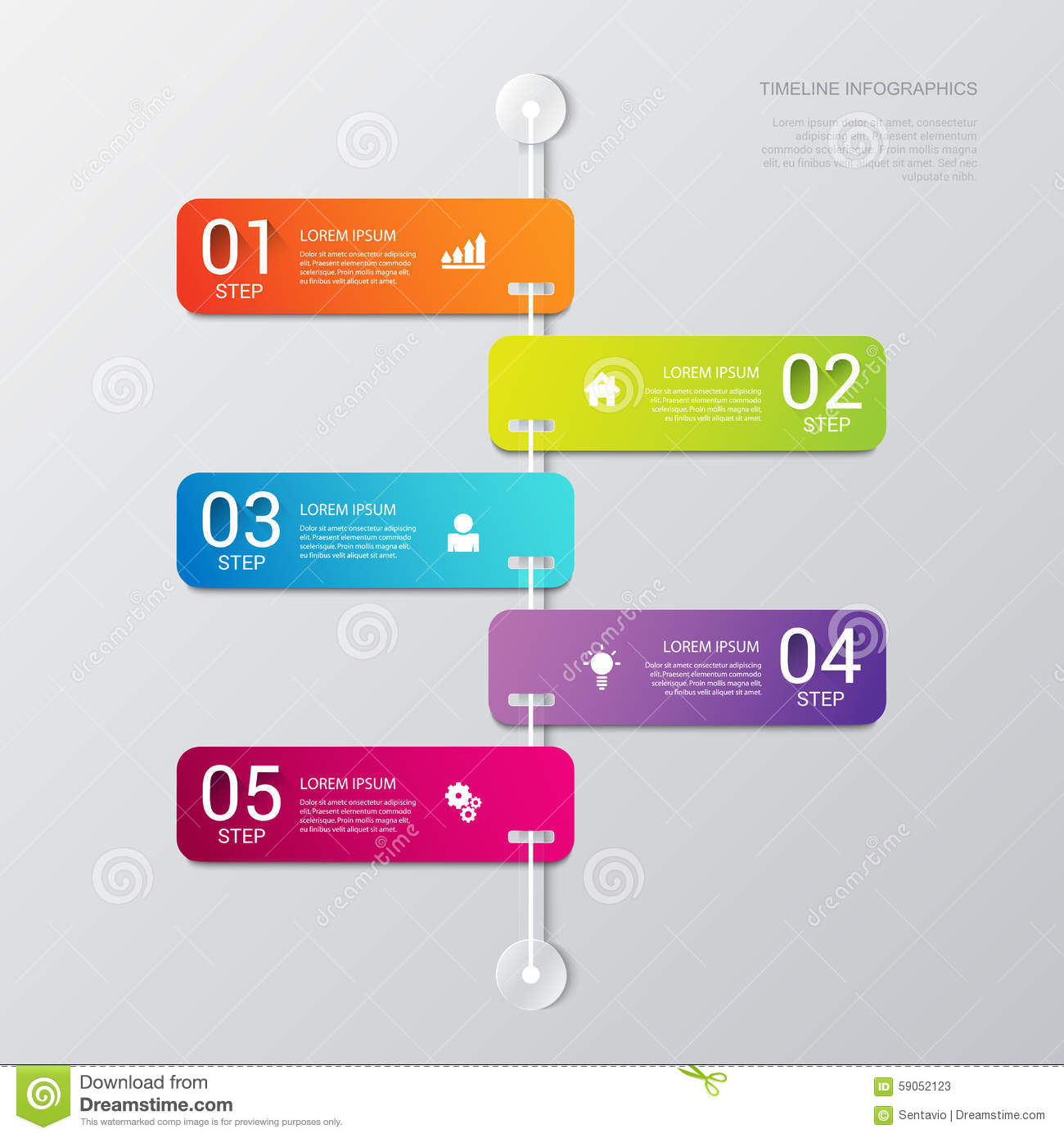 Vector timeline process steps labels template background stock download comp accmission Gallery